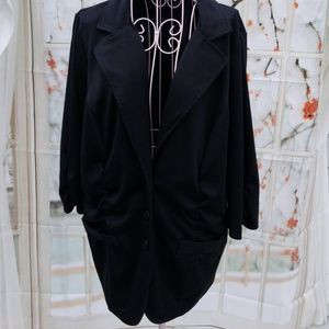 Maurice's Blazer With Ruching 3/4 Sleeve